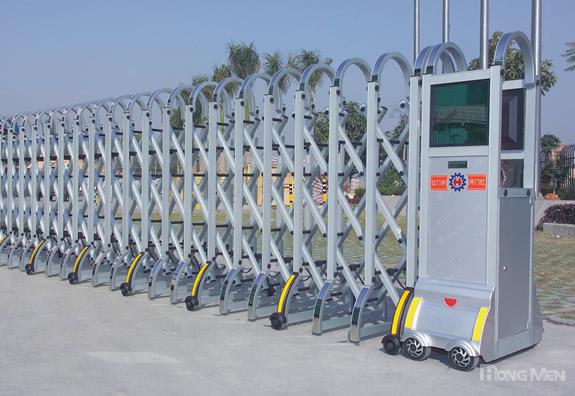 上海红门电动伸缩门厂家-上海电动伸缩门价格/电动伸缩门报价