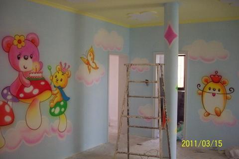 幼儿园环境布置墙壁装饰彩绘卡通画儿童壁画图片; 幼儿园墙体卡通画;