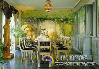 墙壁彩绘,上海手绘墙