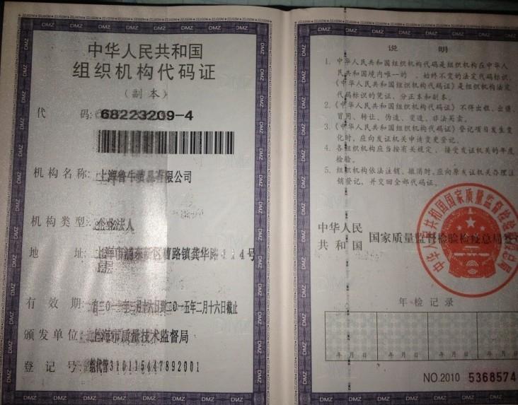 企业代码证