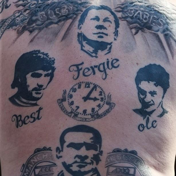 女明星图片展示下载; 英超球迷的个性纹身 枪手队标文头上_火凤凰图片