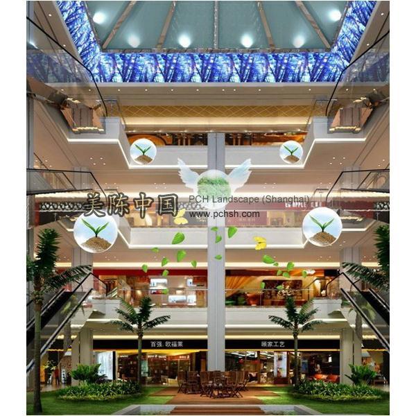 上海商场墙面装饰_上海商场节日装饰公司图片