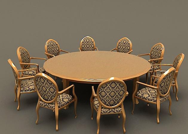 欧式餐桌椅组合; 上海酒店家具|上海ktv家具定做图片