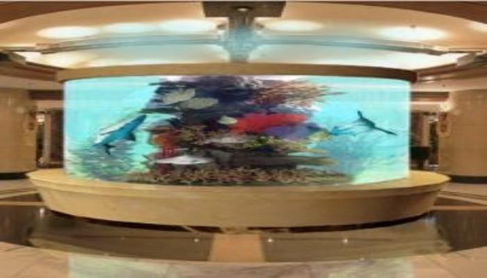 亚克力鱼缸定做公司 大型鱼缸设计制作