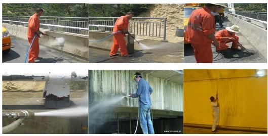 下水道疏通,桥梁伸缩缝清理,钢结构的除漆除锈及公路养护机械的清洗