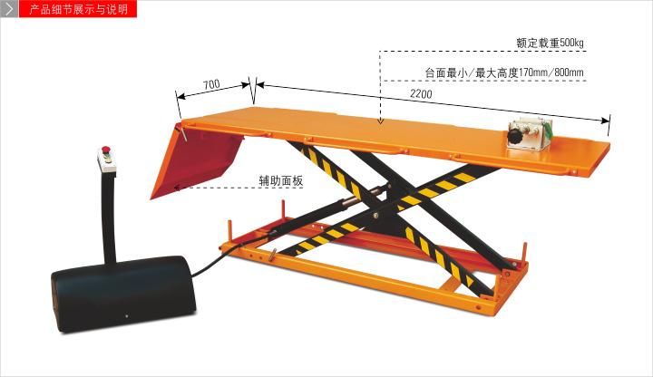 液压机械及部件 摩托车专用电动升降平台图片