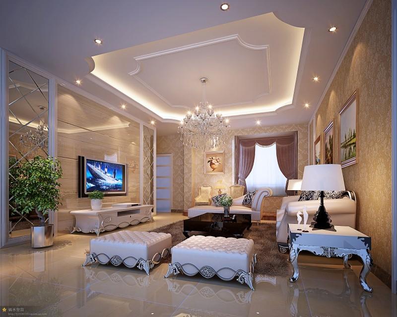 简欧式风格效果图/室内装修/家装设计/上海装饰设计公司