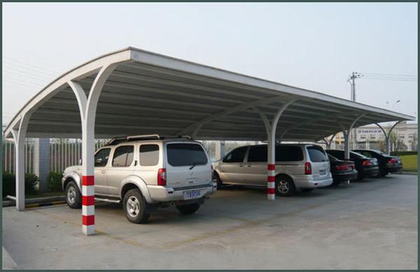 钢结构车棚,钢结构汽车蓬,钢结构自行车棚