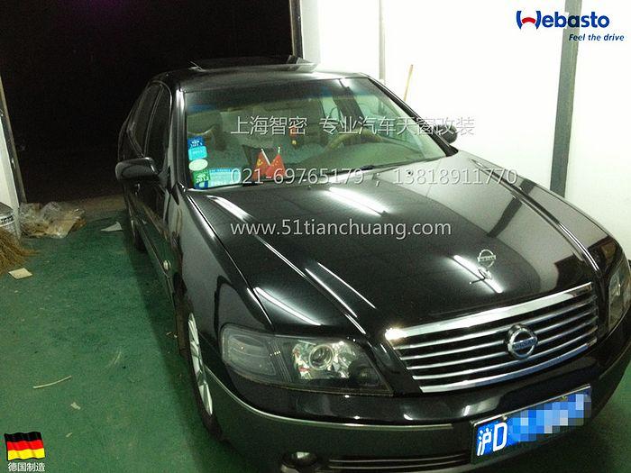 尼桑蓝鸟 上海汽车天窗改装高清图片