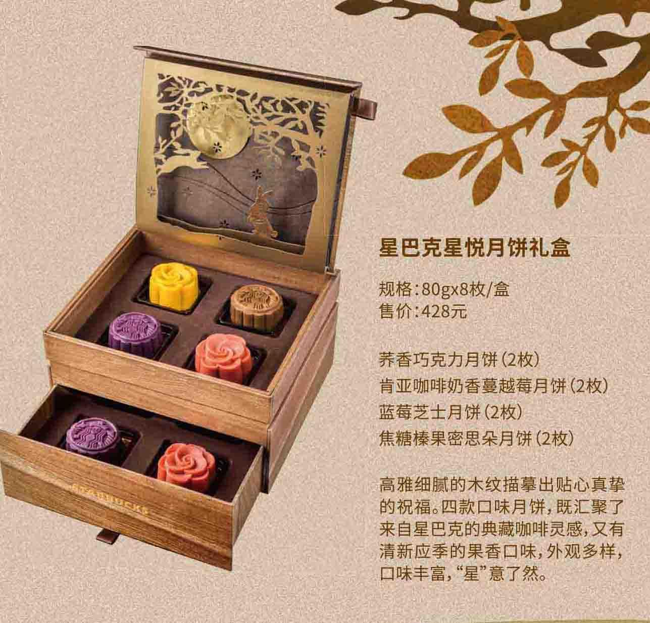 本礼券可在指定星巴克店内提领一盒对应月饼礼盒一份.图片