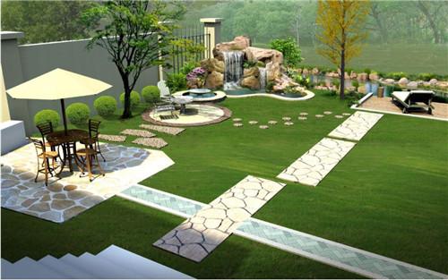 银都路别墅景观设计_上海植物绿化租赁图片