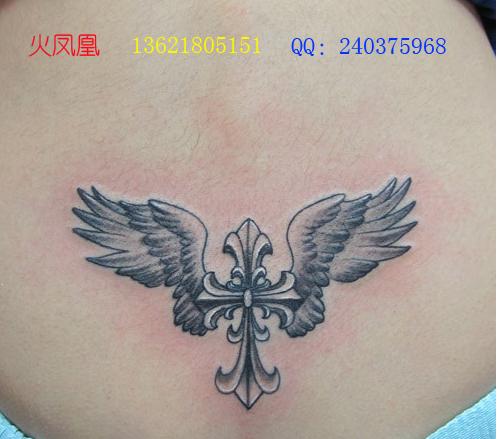 找火凤凰-上海专业纹绣工作室的十字架纹身图案大全图片