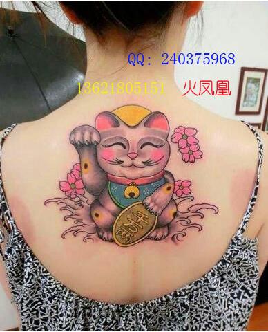 招财猫纹身图案大全|上海纹身店|13621805151