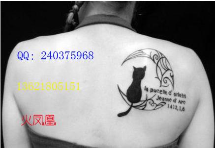 小黑猫纹身图案大全