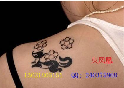 找火凤凰-上海专业纹绣工作室的狐狸纹身图案大全|店