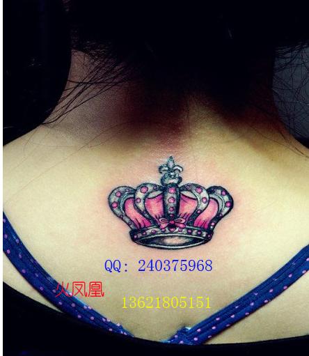 找火凤凰-上海专业纹绣工作室的皇冠纹身图案大全|店