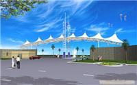 江苏膜结构,膜结构一级企业--无锡物流园大门 zy-4150