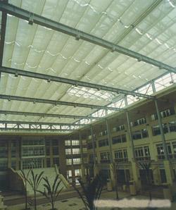 南京手动双轨折叠式天棚帘加工公司