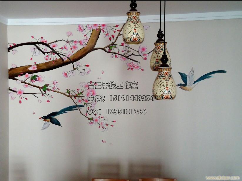 西安餐厅手绘墙