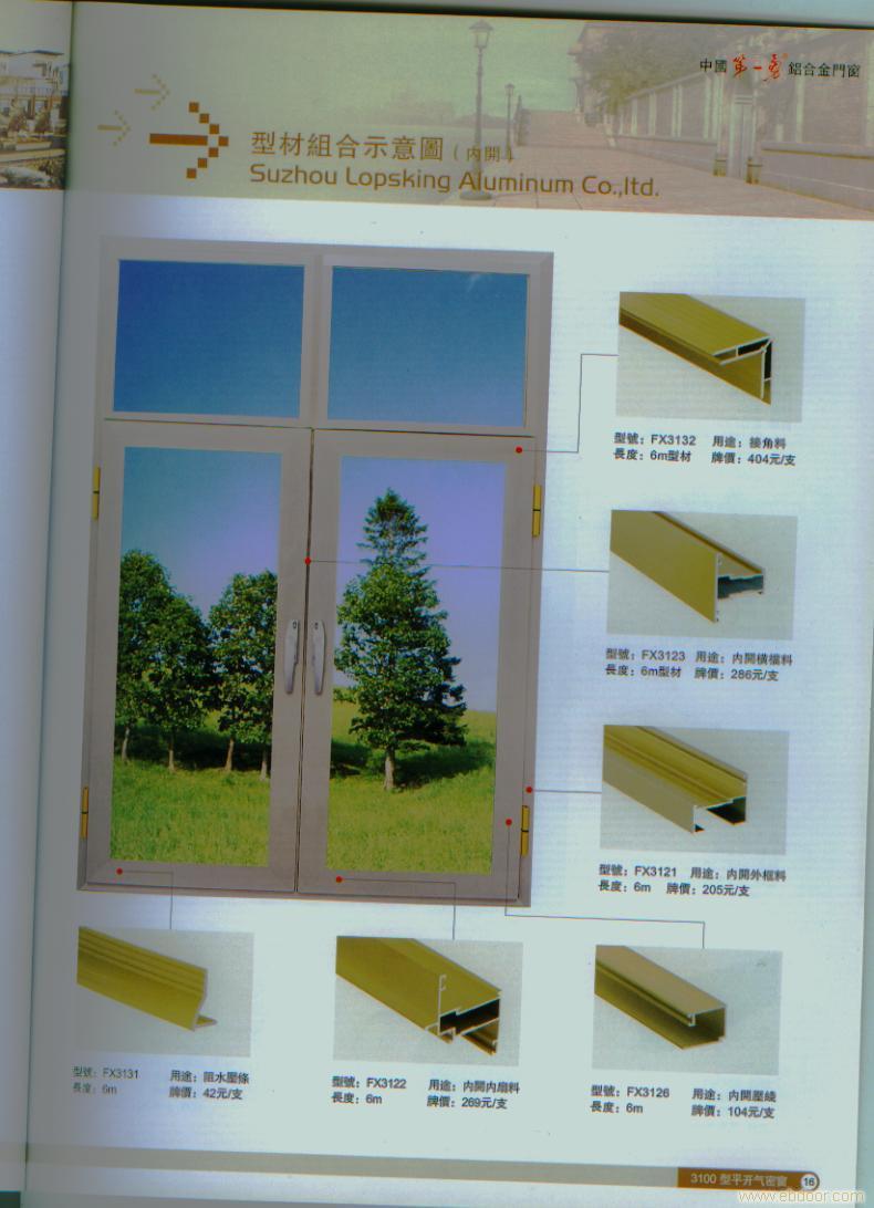 罗普斯金 3100型平开气密窗