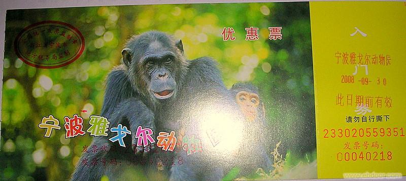 宁波雅戈尔动物园门票