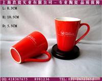 红色漏斗马克杯制作-上海红釉马克杯批发-上海马克杯定制价格