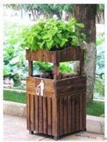 防腐木垃圾桶/上海庭院绿化公司