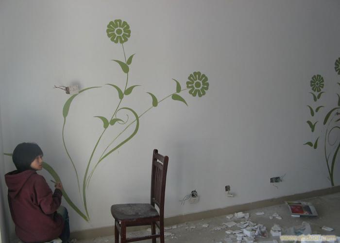 合肥彩绘墙,墙体艺术,手绘公司,向日葵彩绘,墙体彩绘