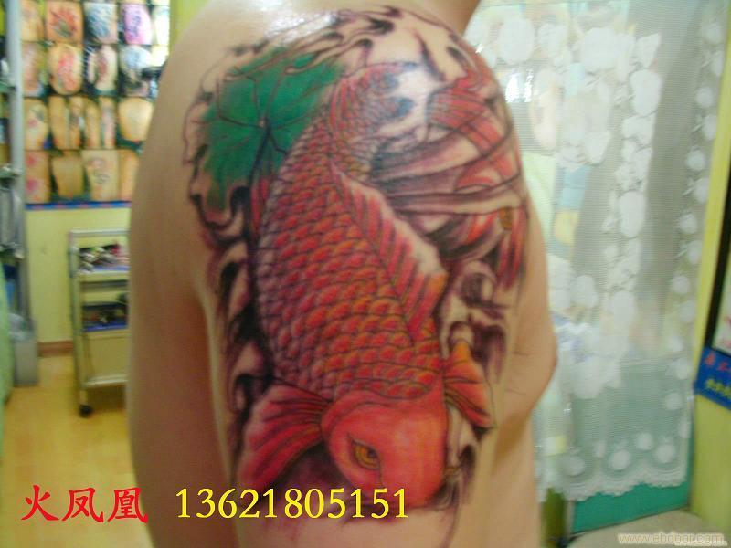 鱼纹身-上海手臂纹身图