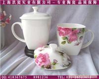 韩式骨瓷方口杯定做-骨瓷外事礼品杯制作-上海骨瓷广告杯制作