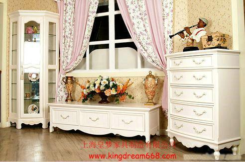 上海欧式家具生产 欧式客厅成套家具 电视柜 组合家具