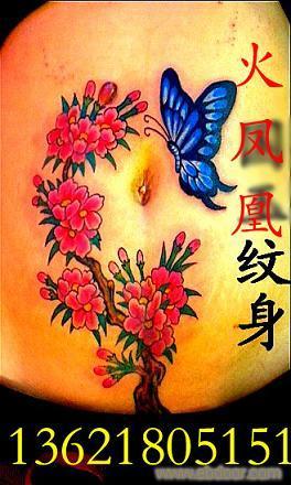 火凤凰纹身图片女满背分享展示图片