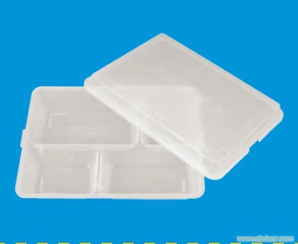 6206透明PP便当盒-底24.9x18.5X3.7