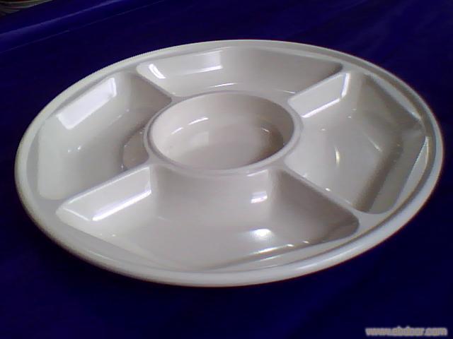 上海德美密胺餐具9310-5五格分格盘26.5X2.7