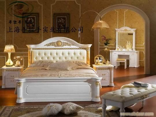 上海酒店成套家具,白色欧式家具,欧式床系列,品牌