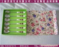 上海定做不锈钢陶瓷勺子(红玫瑰六件套)