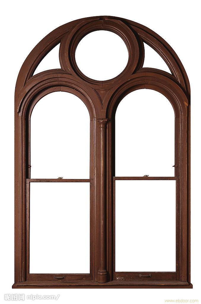 古代木窗形边框