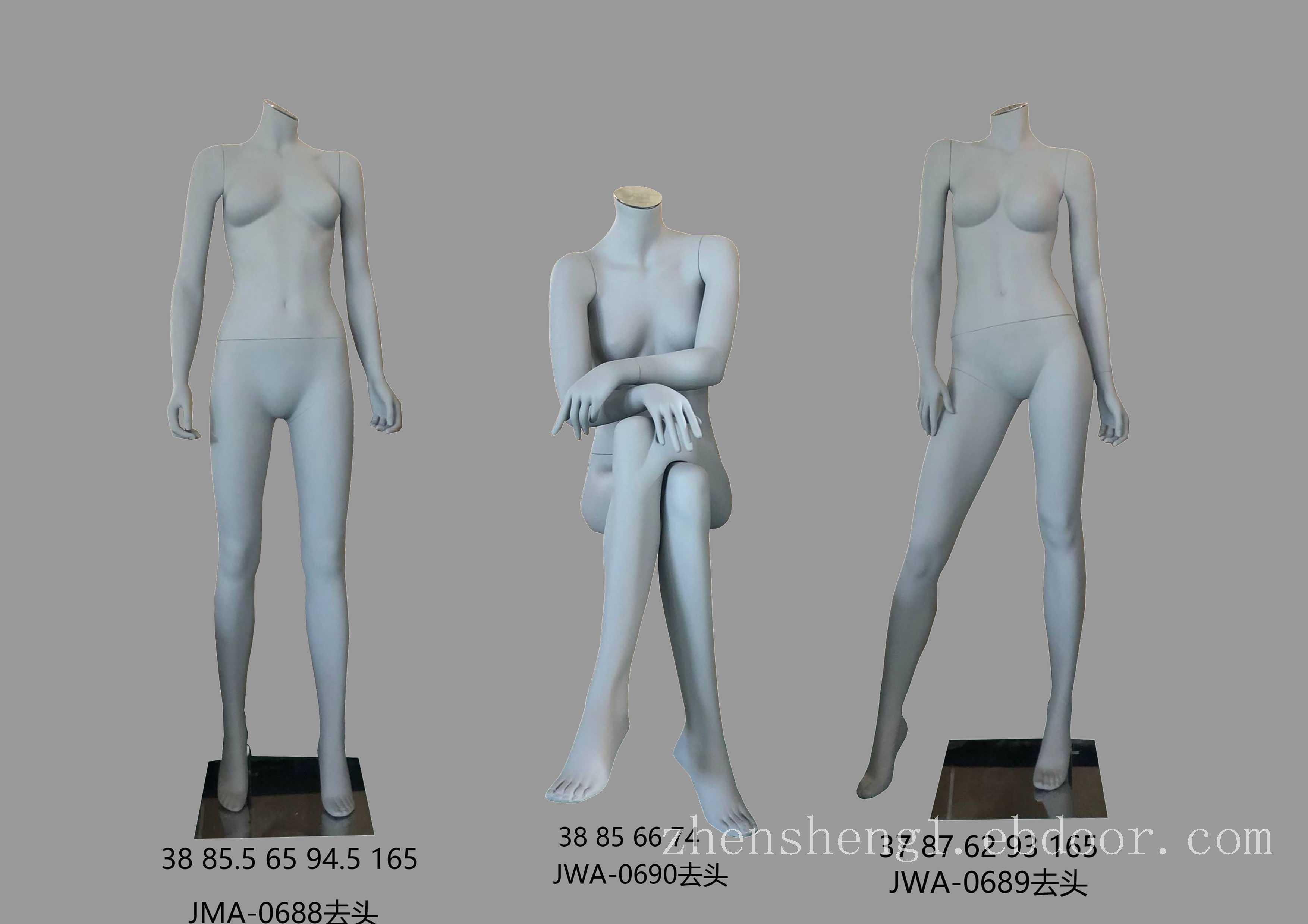 上海服装展示道具批发_上海高档男女坐模型_fld女无头组合模特