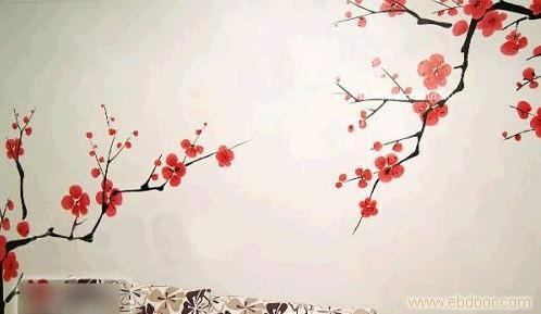 梅花-上海手绘墙/上海墙体彩绘