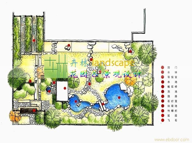 上海卉林园林景观工程有限公司日式庭院设计案例?#35745;? width=