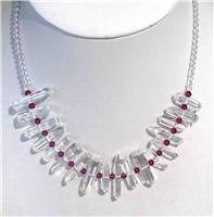 天然水晶项链(070691)