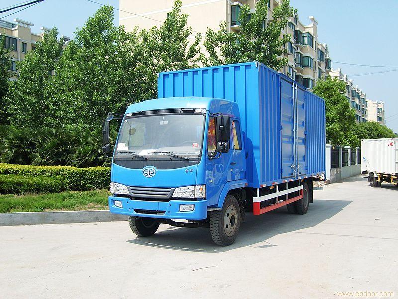 给上海紫运汽车销售有限公司的上海解放赛龙 厢式