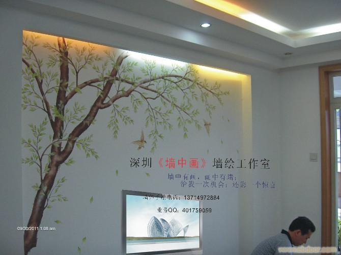 深圳宝安机场 宝安凤凰山 墙体绘画装饰 手绘墙制作