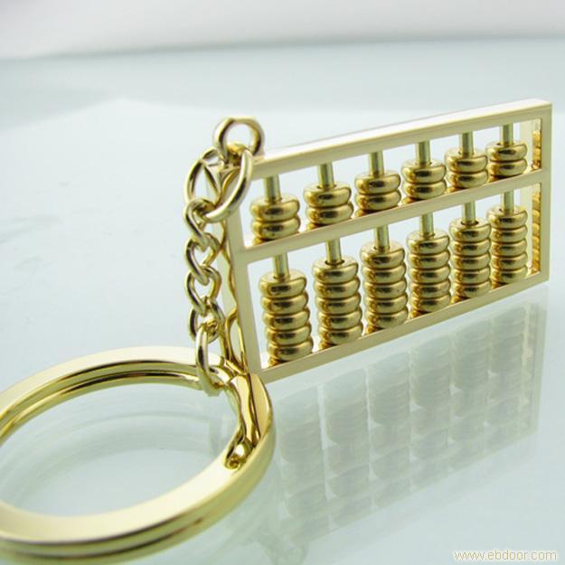 中国风创意金色算盘钥匙扣