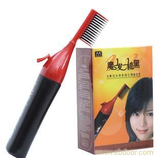 上海邦维丝娜魔发梳染发剂一梳黑发膏染发膏魔法梳白发染黑发剂厂家直供