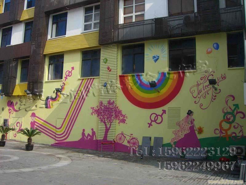 苏州艺空间墙体彩绘,家居手绘墙,幼儿园墙体喷画