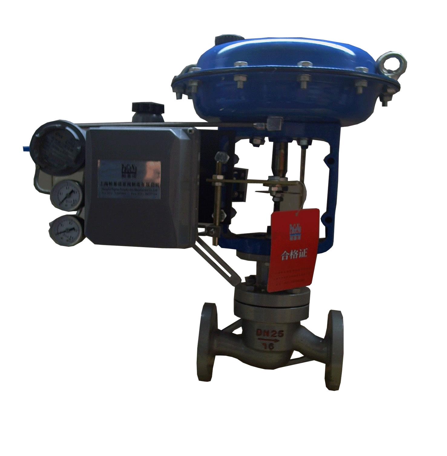 精小型气动薄膜单座调节阀图片