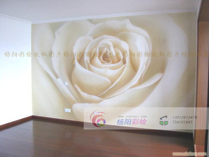 苏州墙体彩绘 别墅手绘墙
