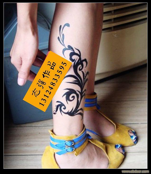 纹身图案大全 - 后背 手臂 腰部 腿部 动物 植物 人物等各类纹身图.