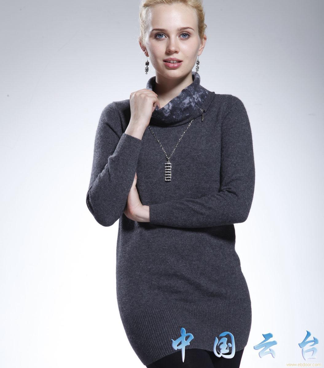 羊绒衫量身定做前景_正品羊绒衫定做-羊绒衫量身定做-1131款女式印花长款羊绒衫_长款 ...